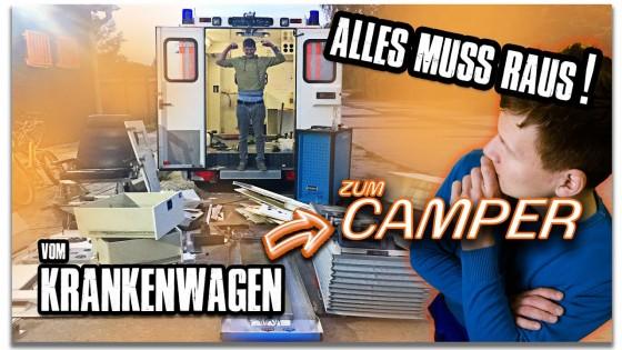 Wir räumen den Krankenwagen leer! - RTW Umbau zum DIY Camper Van Teil1