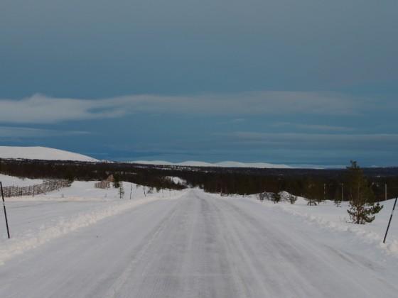 Blick in Richtung Schweden, Winter 2014/2015