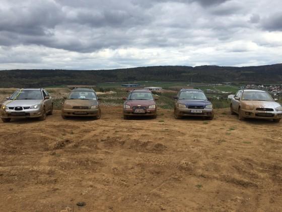 Alle Subarus die dabei waren