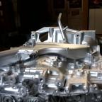 Motorblock innen und außen gereingt und lackiert.